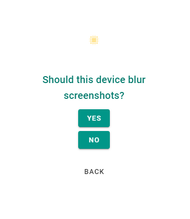 should this device blur the screenshots it captures?